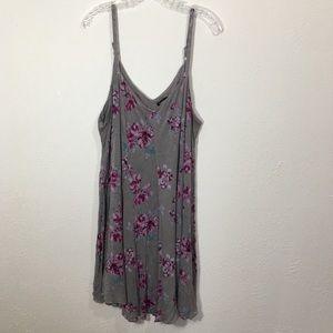 TORRID Gray Purple Floral Sleeveless Dress Size 3